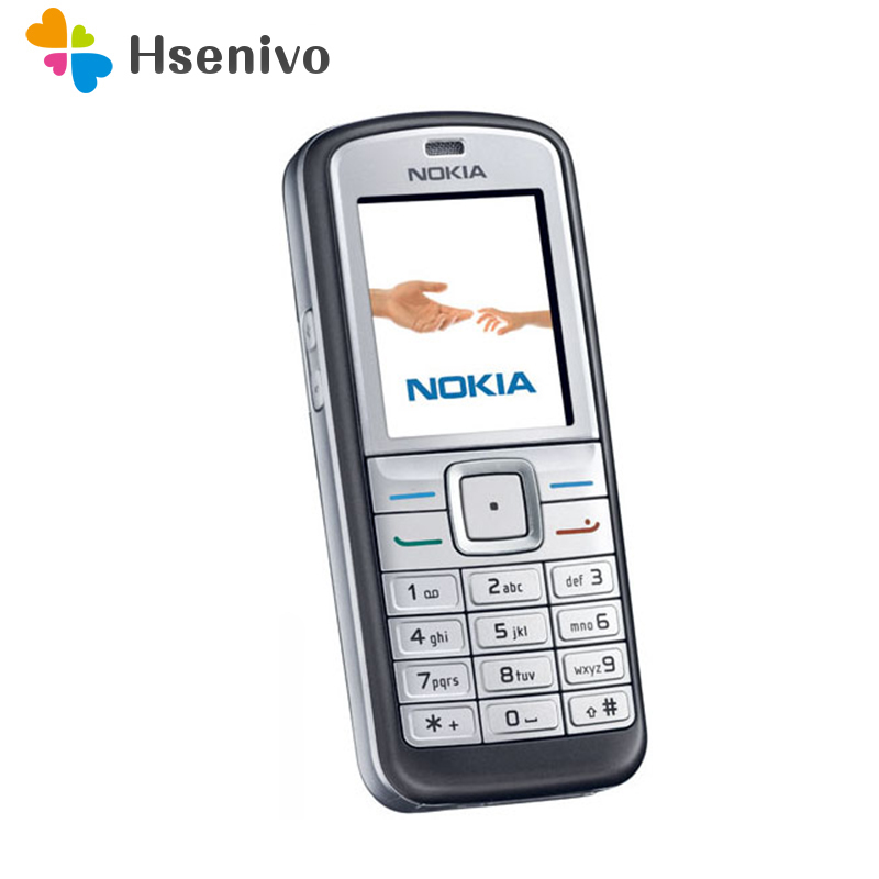 100% Original Nokia 6070 Unlocked Refurbished Mobile Phone 2G GSM Cheap Nokia Cellphone One year warranty Free shipping(China)