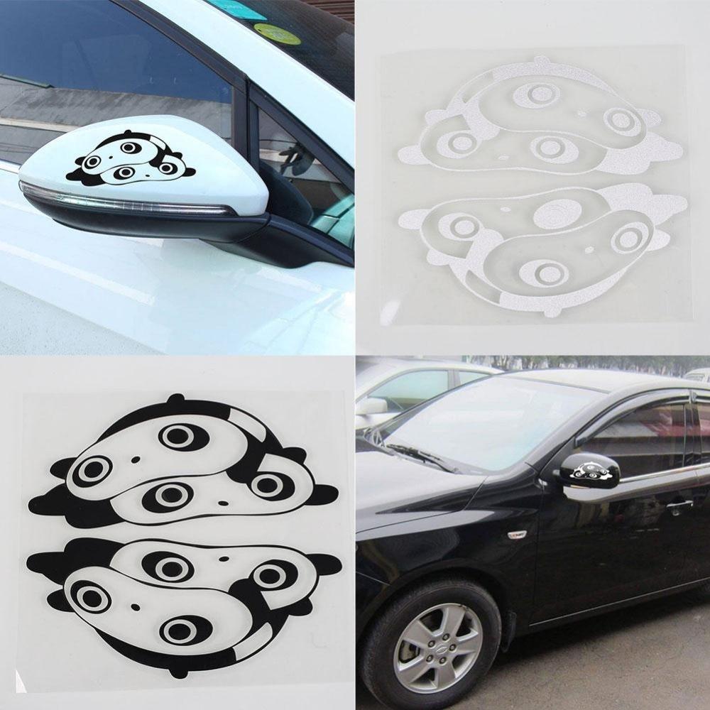Car side mirror sticker design - 2pcs Design Car Stickers Panda Cartoon Side Mirror Stickers Reflective Stickers Decal Car Styling China