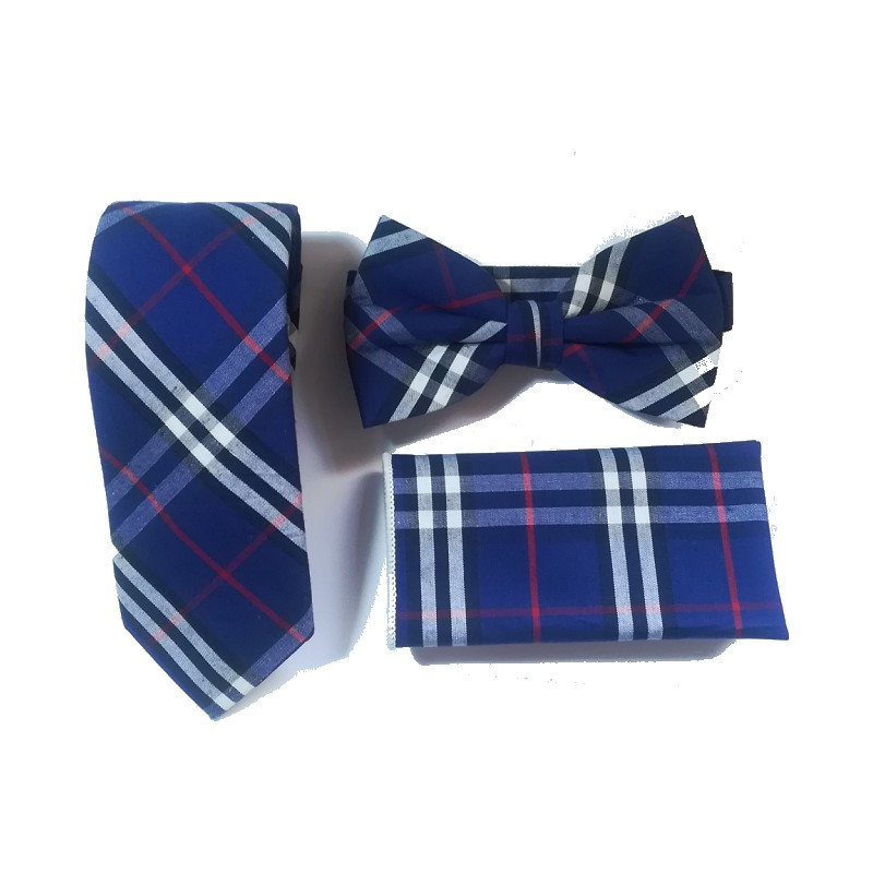 Business Necktie Set Tie Bow Tie Handkerchief For Men Plaid Ties Hankie Standard Butterfly Bowknot Pocket Square Wedding Leisure