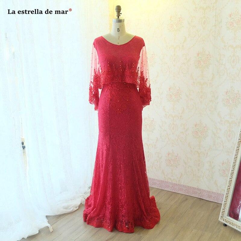 Vestiti Eleganti Donna.Vestiti Eleganti Donna Cerimonia Sera New Lace Long Sleeve Shawl