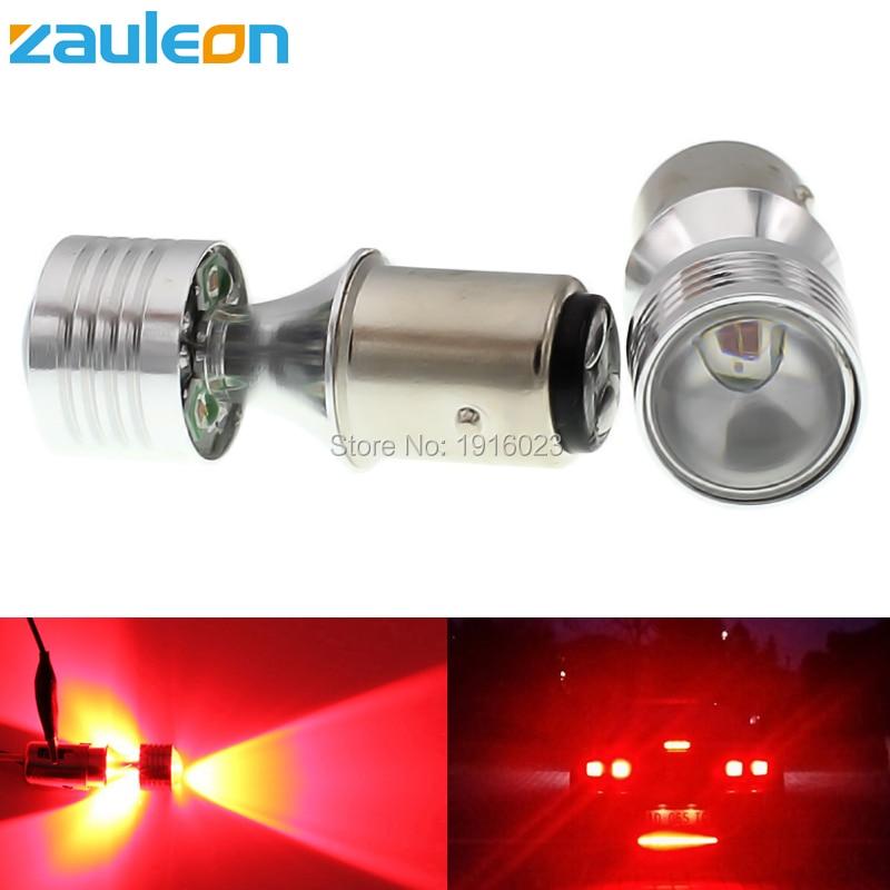 Zauleon 2pcs Super bright Car led 1157 BAY15D P21/5W 20W LED Car Motorcycle Rear Brake Light Bulbs Taillights Red car light pointpurple d1212r 1157 5w 80lm 2 led 10 smd 5050 led super bright car brake light 2 pcs 12v