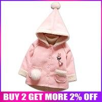 BibiCola infant baby girls jackets fashion bebe cartoon fur hoodies outwear toddler children clothing baby sport jackets coats