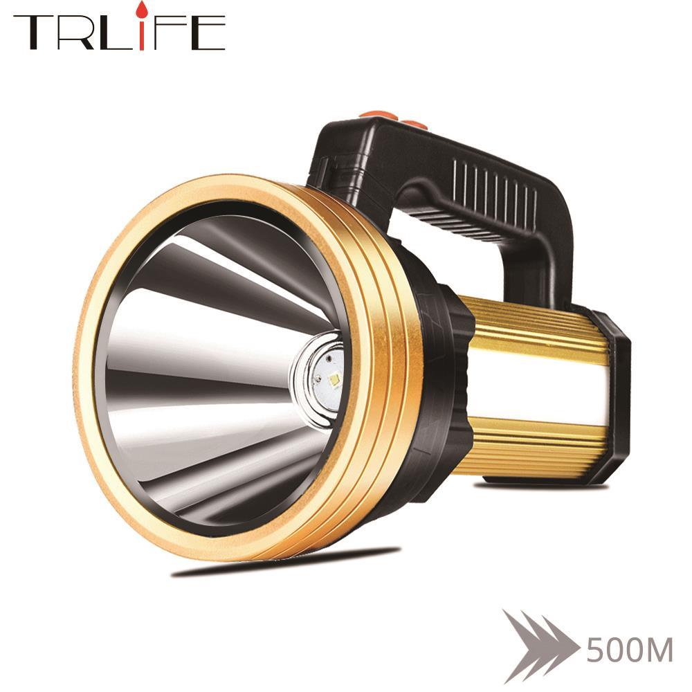160W intégré 7200mAh puissant lampe de poche remis projecteur Portable USB Rechargeable projecteur avec lumière rouge latérale