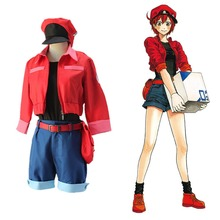 Cells at Work RBC Red Blood Cell Erythrocyte Cosplay Costume Halloween Festa
