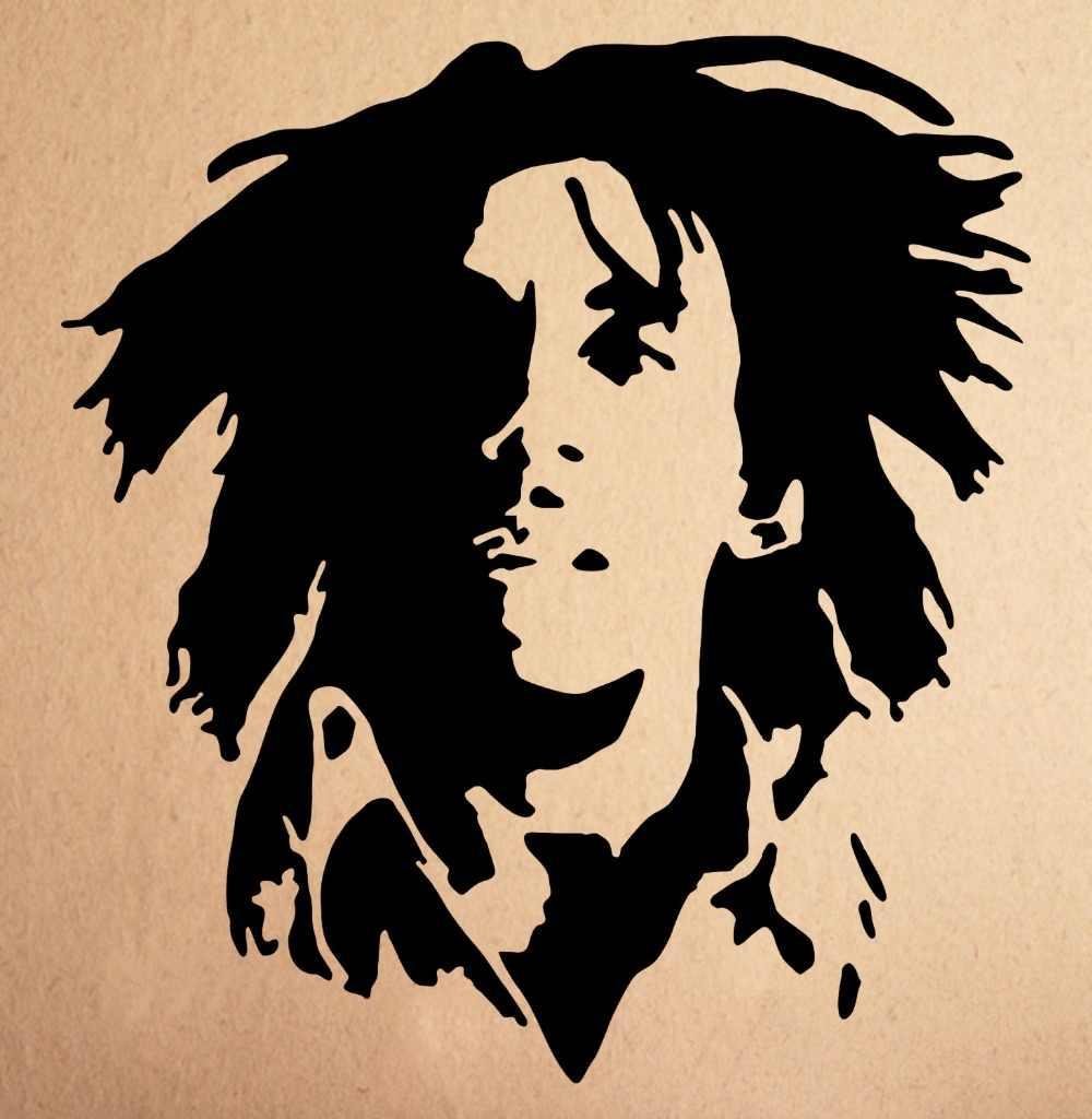Vinil Mural Bob Marley Rasta Dinding Decal Sticker Vinyl Art Fan Art Decal Dekorasi Rumah Stiker Warna Hijau Hitam Mudah Removable D289 Dekoratif Stiker Dinding Decals Stikerdekorasi Rumah Stiker Aliexpress