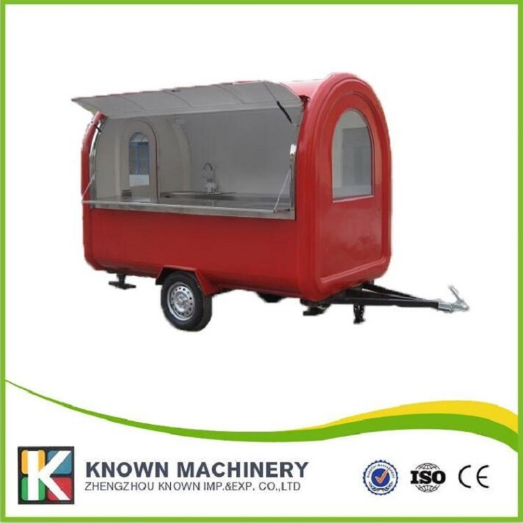 KN-280 mobile food carts/trailer/ ice cream truck/snack food carts customized standard inside for sale with free shipping by sea thai fried ice cream rolls machine with double square pans with cover free ship by sea 50% deposit for dev