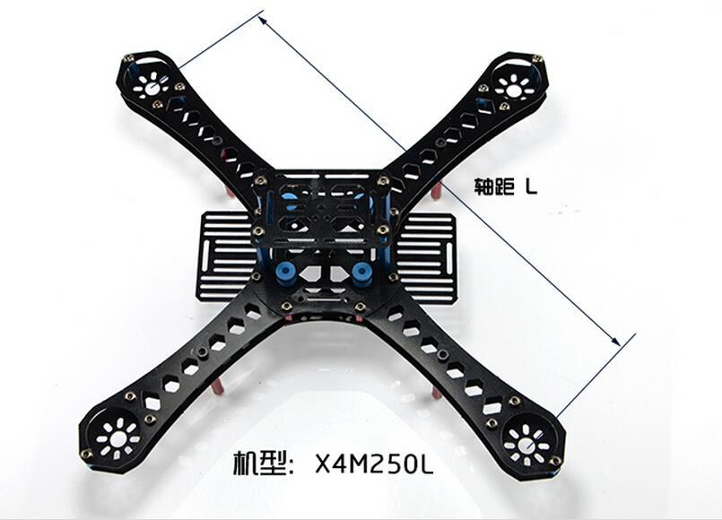 X4 250 280 310 360 380 mm Wheelbase FiberGlass Alien Across Mini Quadcopter Frame Kit DIY RC Multicopter FPV Drone F14891 hj x mode mwc alien multicopter quadcopter frame kit for r c helicopter red white black