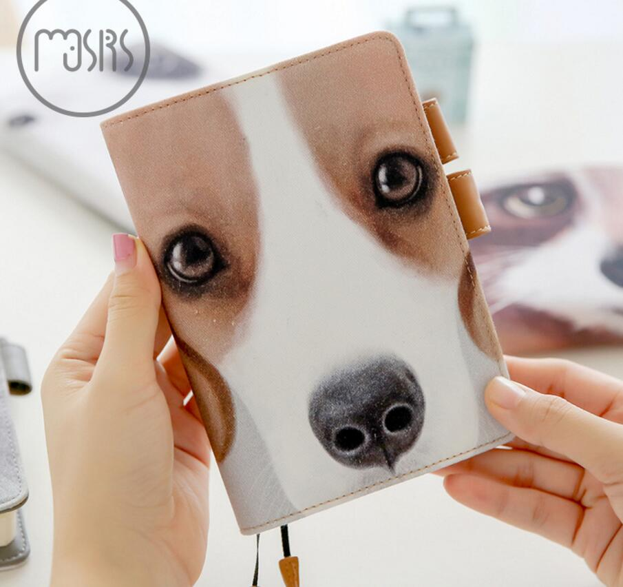 цена на Funny animal face theme journal A6 notebook undated agenda Japan fashion planner gift free shipping