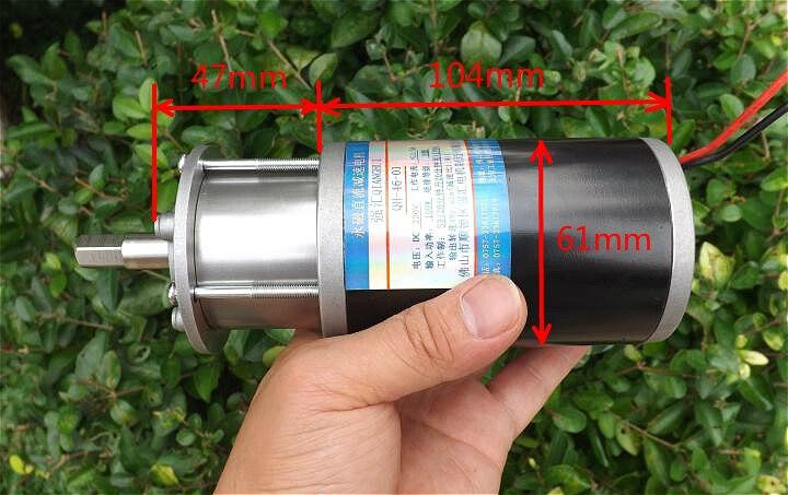 ФОТО DC permanent magnet planetary reduction motor low speed 24V-200V large torque 100W positive inversion speed regulating motor