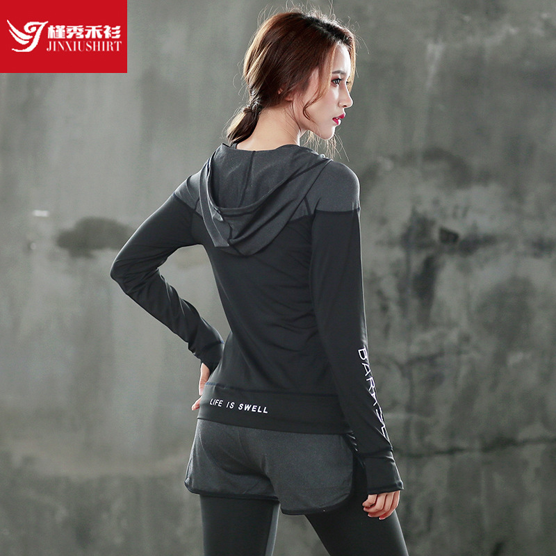 JINXIUSHIRT Fitness Women Yoga  Gym Running Sports Suit Lady  Clothing Breathable Quick Dry Sportswear Sets Patchwork Tracksuit quick drying gym sports suits breathable suit compression top quality fitness women yoga sets two pieces running sports shirt