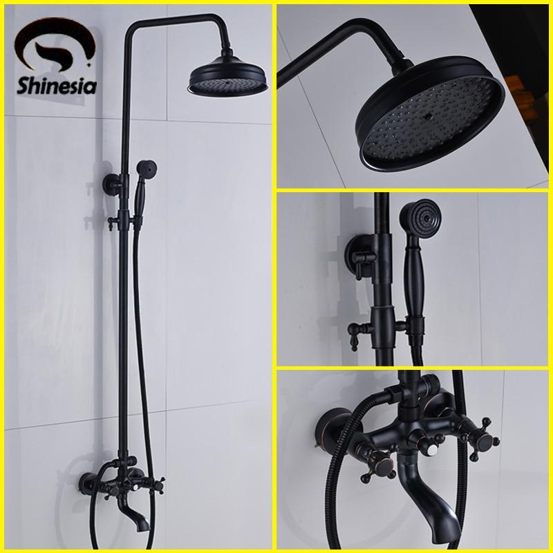 New Oil Rubbed Bronze Bathtub Shower Set Mixer Faucet 8