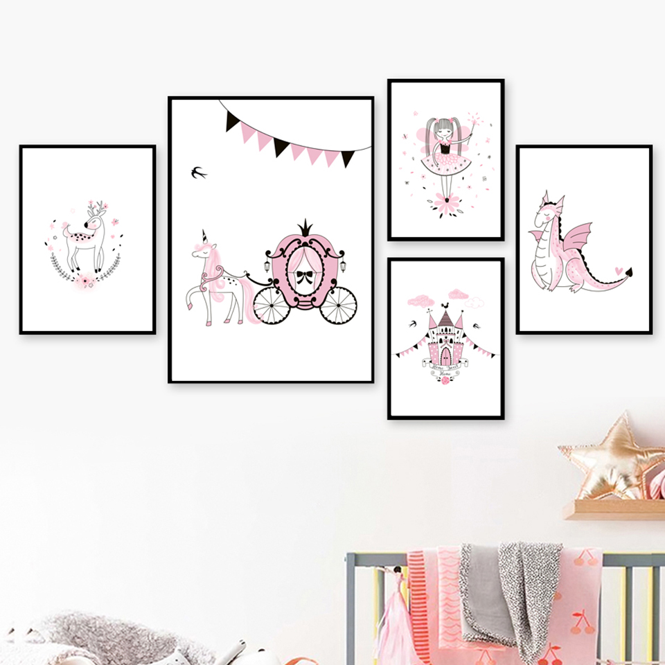 Little-Princess-Swan-Nordic-Posters-And-Prints-Wall-Art-Canvas-Painting-Scandinavian-Wall-Pictures-Baby-Girl (1)