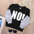 2016 Jumper de camisola criança gola de manga comprida camisa Tops