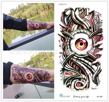Body Art Beauty Makeup Pink Sexy Dangerous Robot Eyes Tattoo 7D Waterproof Temporary Tattoo Stickers Sexy