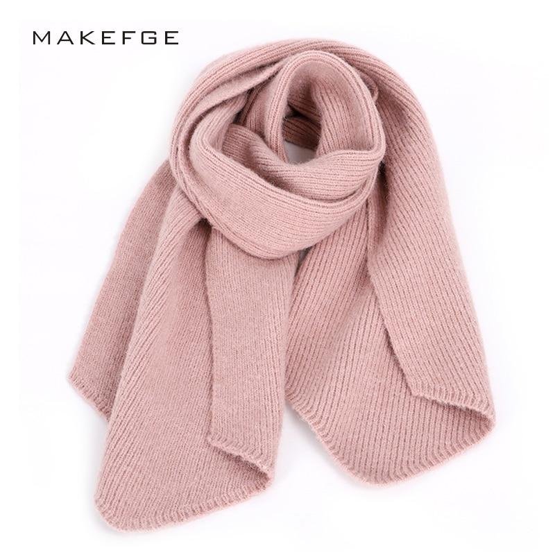 2018 new luxury brand knit ladies winter   scarf   high quality wool fashion   Scarves   woman female shawl Soft   wraps   girl fleece cape