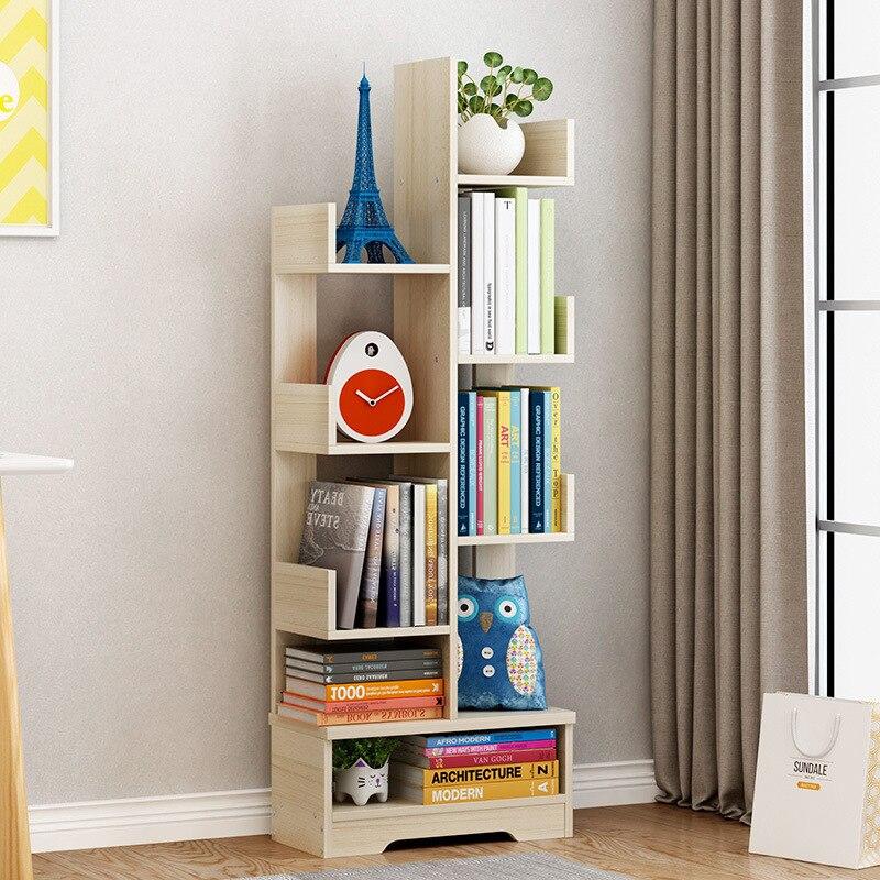 bibliotheque de salon moderne simple et atterrissage meuble combine en bois massif creatif petite etagere