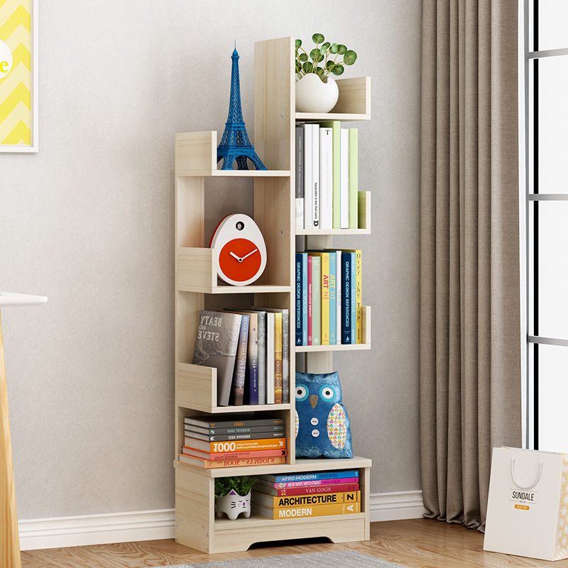Landing Simple Modern Living Room Bookcase Shelf Simple Children's Solid Wood Combination Creative Small Bookshelf Furniture