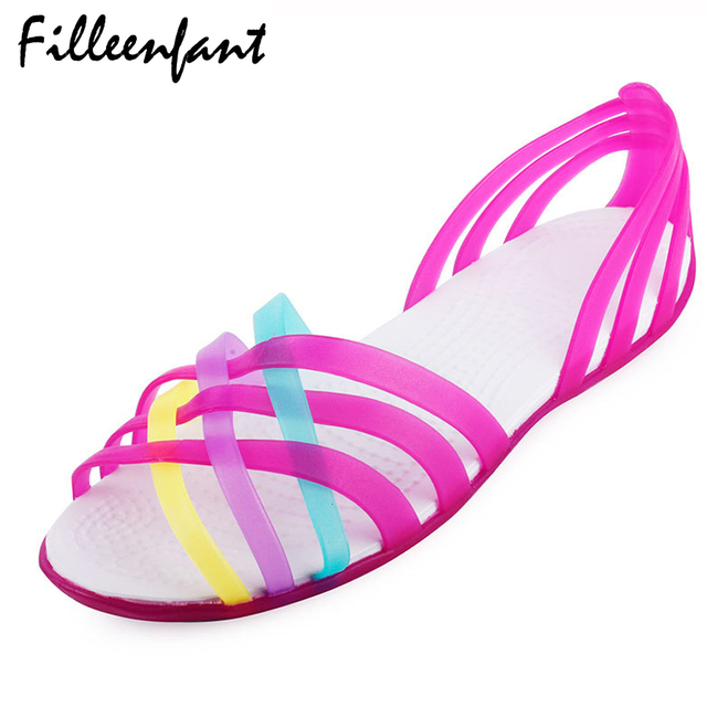 Summer Women Mules Clogs Shoes P Toe Rainbow Beach Woman Sandals Sandalias Mujer Plastic Candy