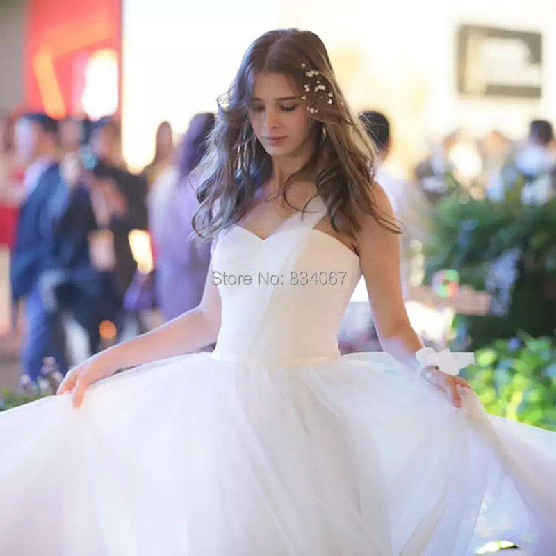 Beautiful White Tulle font b Bridesmaid b font font b Dress b font 2017 A line