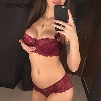 New Brands Sexy Underwear Set Women Thin Cotton Lace Bra Lingerie Sets Plus Size 40 38