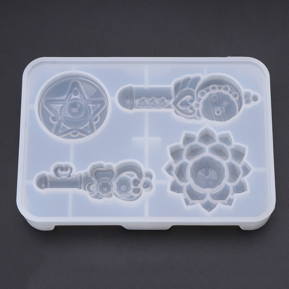 Silicone Mold DIY Magic Stick Cartoon Flower R  Molds Handmade Gifts Toys Girls Products Jewelry Making Epoxy Resin Crafts