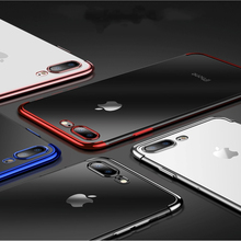 Silicon Clear Soft Case For Iphone Xs Max X Xr iphone 6 6plus 6splus iphone 7 8 7plus 8plus slim Anti-knock Phone Cover Casing