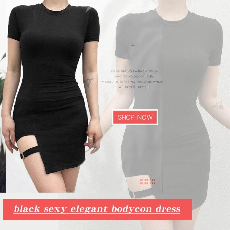 black sexy elagent bodycon dress