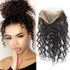 Pre Plucked 360 Lace Frontal 8A Brazilian Loose Wave Lace Band Frontals Closure With Baby Hair 360 Lace Virgin Hair With Strap