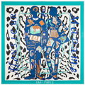 2016new mulheres por atacado 100% lenço de seda de leopardo azul marca de moda de seda scarfscheap grande de seda pashminas shawls130 * 130 cm