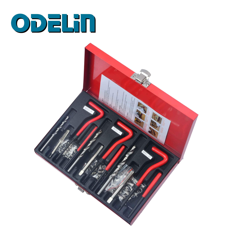 103Pc Thread Repair Recoil Insert Kit Drill Tap Car Garage Tools M5 X 0.8 M6 X 1 M8 X 1.25