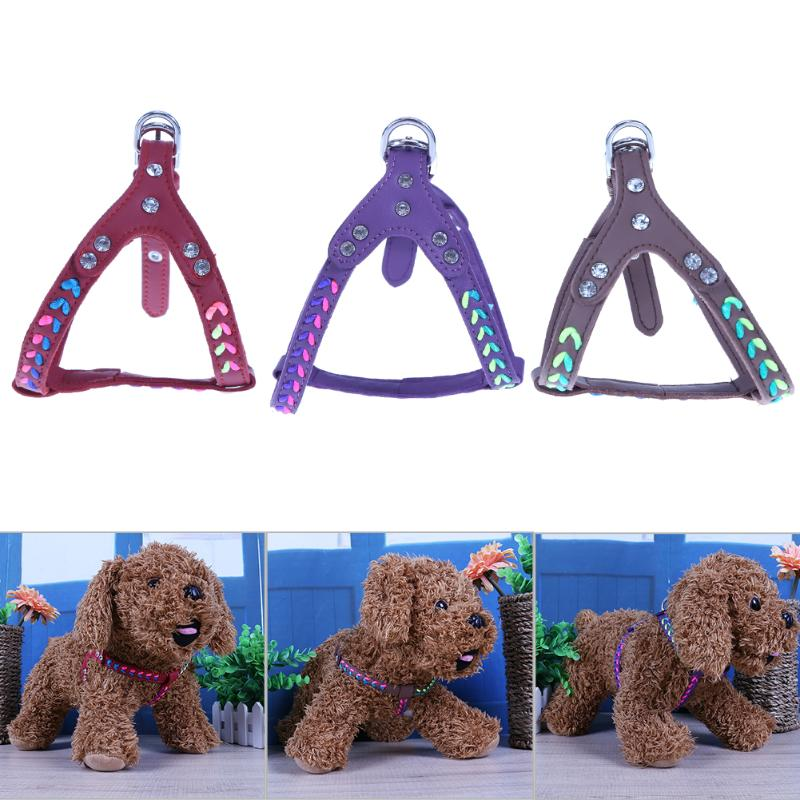 Adjustable Nylon Braided Pet Harness Collar Soft Dog Chest Strap Harness Soft Breathable Dog Harness for Cats Dogs Chest Straps