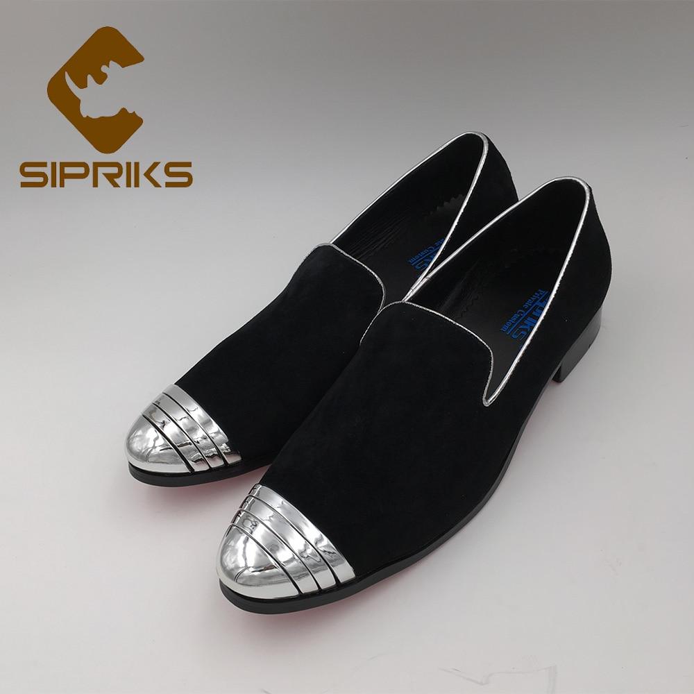 SIPRIKS mens mocassini metallic silver fumo scarpe pantaloni a vita bassa  mens fondo rosso scarpe da sera del progettista mens scarpe da ballo  appartamenti ... fd07cb1c32b