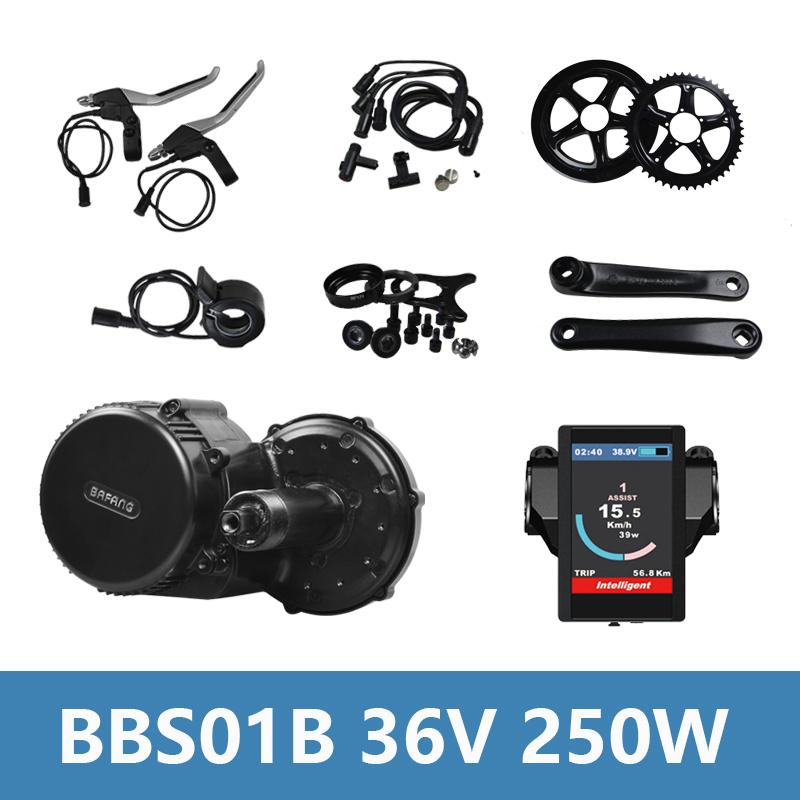 36V 250W Brushless Bike Motor Electric Kit Bafang 8Fun BBS BBS01 BBS01B Electric Bike Conversion Kit Mid Drive Motor Engine kit 36v500w electric bike center motor system bbs cheapest and best on aliexpress free shipping