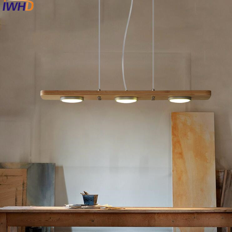 IWHD 3 Heads Wood Modern Pendant Lamp Fashion Led Pendant Light Fixtures Bedroom Hanglamp Home Lighting Suspension Luminaire iwhd 3 heads iron hang lights led pendant light fixtures fashion wood modern pendant lamp kitchen bedroom e27 220v for decor