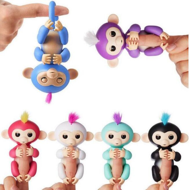 Fingerlings baby monkey Interactive Glitter Monkey mini Pet toys Moveable joints Figures Children Toy Pet Kids Christmas gifts creative kids toys tumbling monkey game falling toy tumbling monkey parent child interactive learning educational toys for child