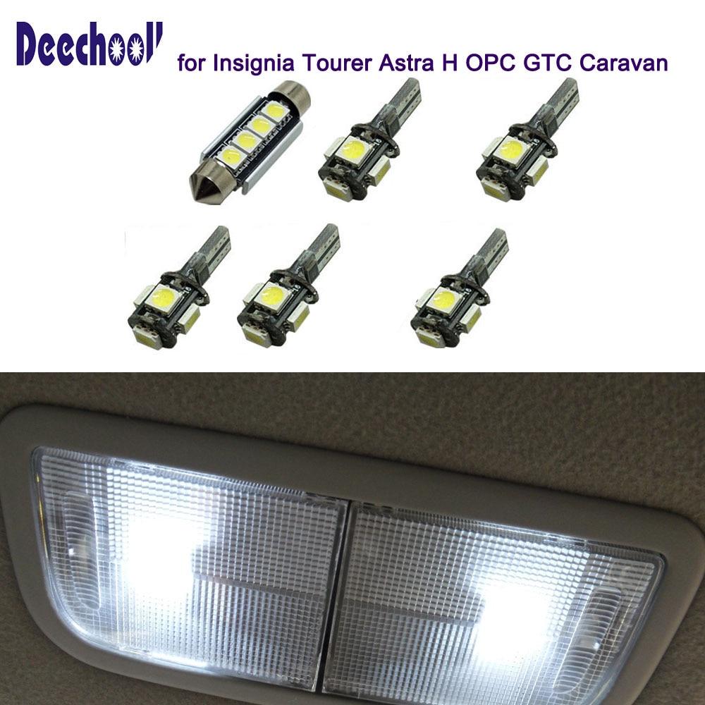 Us 915 39 Offdeechooll 6 Sztuk Samochodów Led żarówki Do Opel Insignia Tourer Astra H Opc Gtc Przyczepy Kempingowej Oświetlenie Wnętrza Kopuła