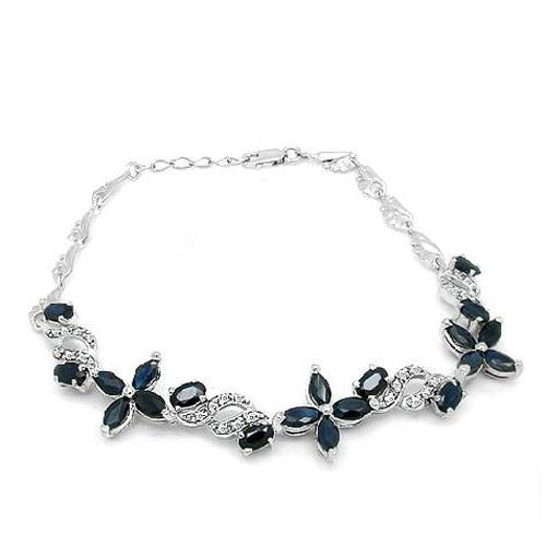 2017 г. QI Xuan_Free почта темно синий каменный цветок Bracelets_S925 чистого серебра Bracelets_Manufacturer непосредственно продаж