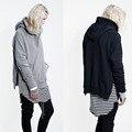 Hoodies & camisolas dos homens 2016 marca de moda zipper hoodies tubarão mens suits manga comprida desgaste hiphop rua kanye GD