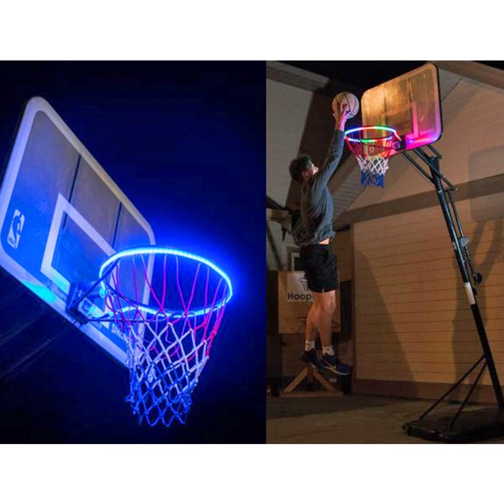 1.5m Accessories Luminous Outdoor Glowing Basketball Rim Hoops Led Trainning Night Funny Solar Energy Shooting Durable