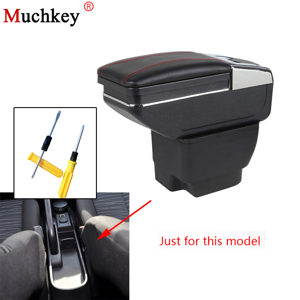 Armrest box For Mazda 2 central Console Arm Store content box cup holder ashtray PU Leather interior car styling accessories universal leather car armrest central store content storage box with cup holder center console armrests free shipping