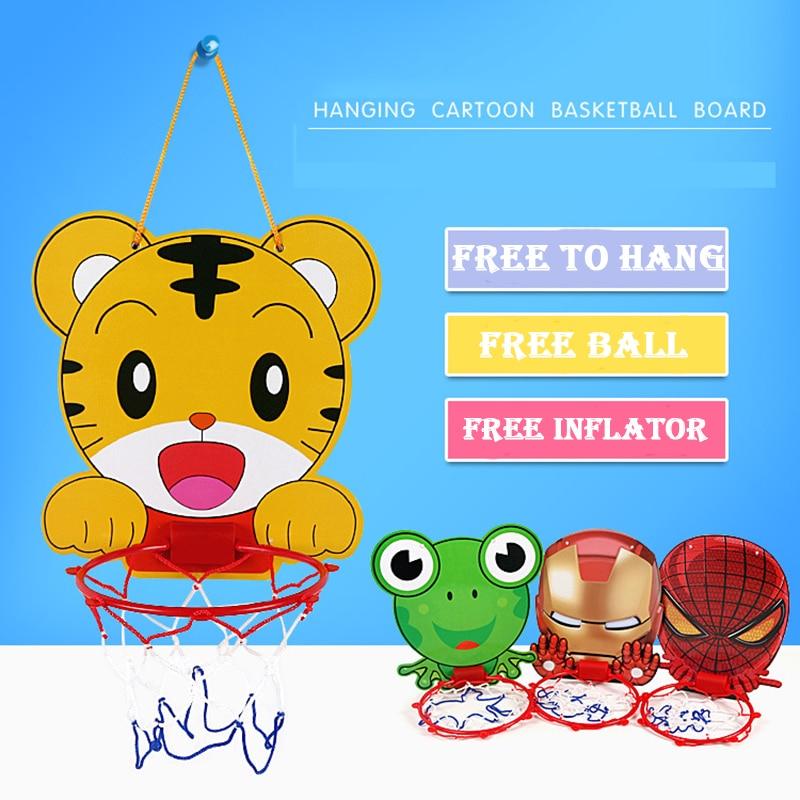 5 Styles Indoor Mini Plastic Basketball Board Toys Basketball Hoop For Kids Boys Favorite Gift Children Mesh Net Backboard Rim