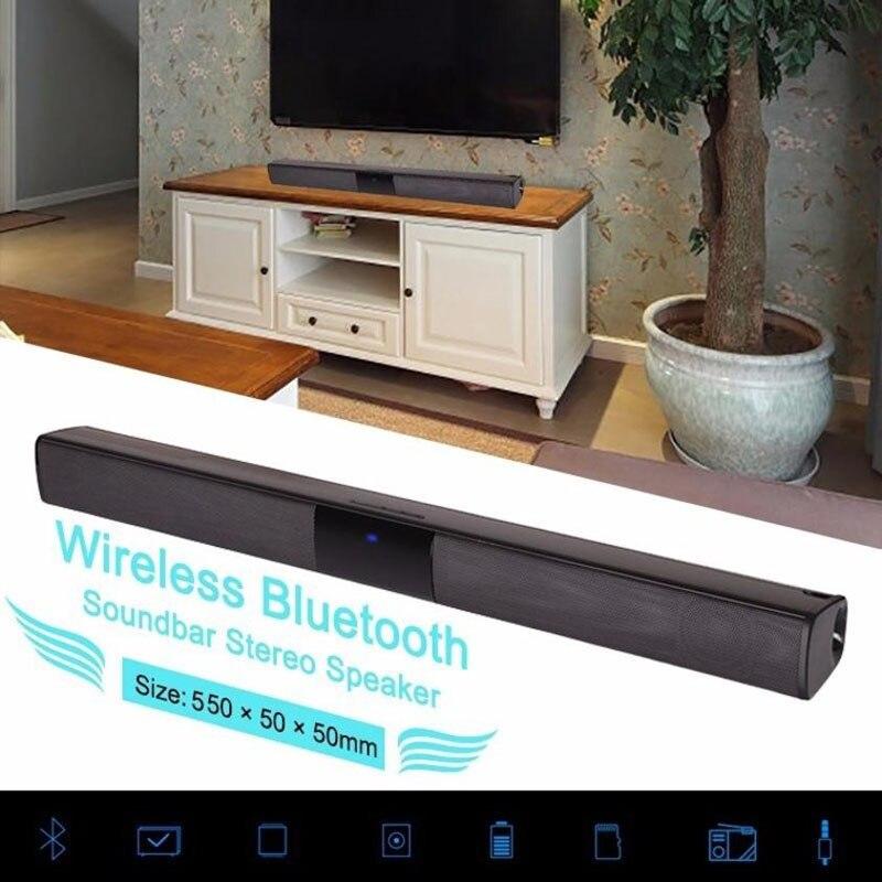 Домашний дизайн беспроводной Bluetooth Саундбар Стерео Динамик ТВ домашний кинотеатр TF USB звуковая панель (черный)