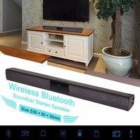 Home Design Wireless Bluetooth Soundbar Stereo Speaker TV Home Theater TF USB Sound Bar(Black)