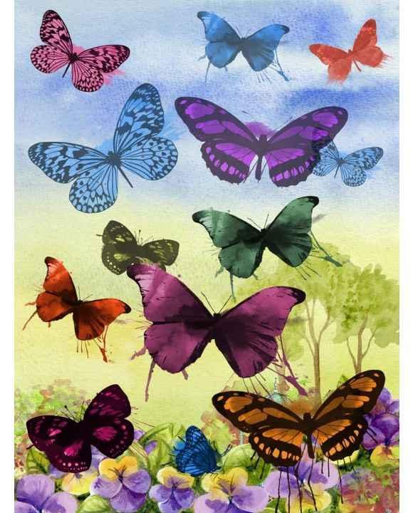 Круглый Алмаз 5D DIY Алмазная вышивка крестиком бабочки горный хрусталь мозаика декоративная картина