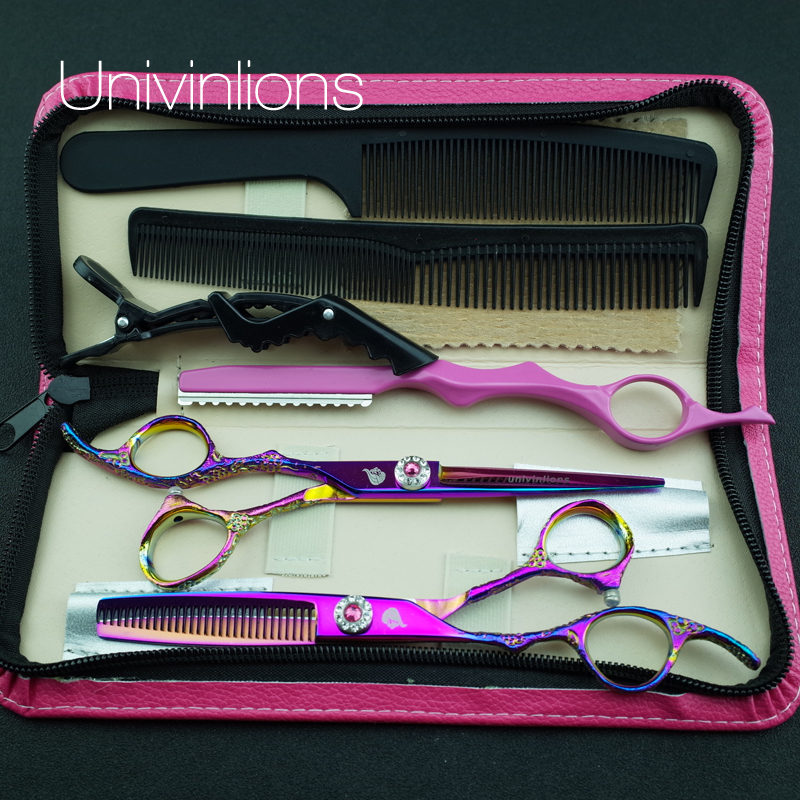 6 «univinlions 440C left handed қайшылар thinning shears шаштараз left left handed hairdressing tails japanese lefty scissors pinking