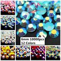 #43-#54 10000pcs ss30 6mm Resin rhinestone flatback with silver foiled