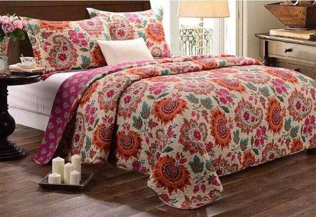 672a219dd3c 100% algodón edredón, juegos de cama de la boda, girasol patrón romántico,