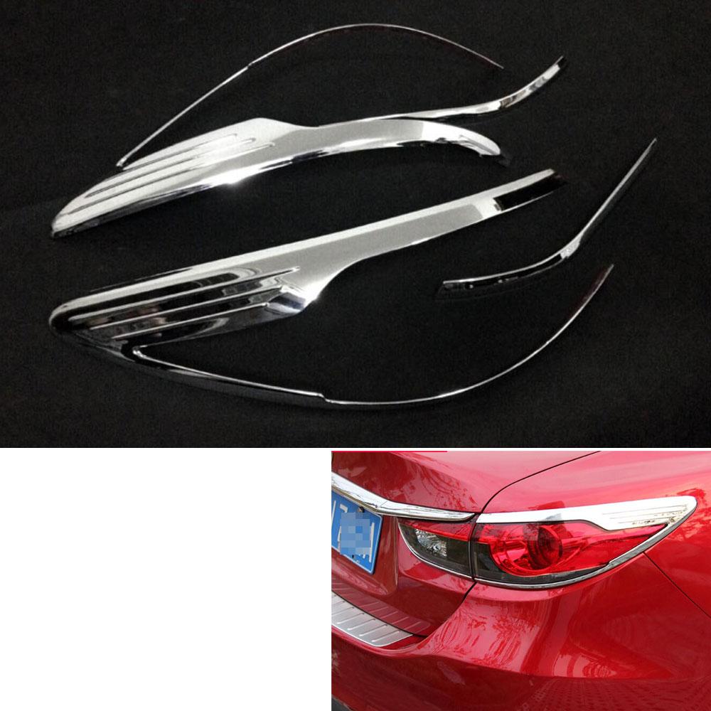 Nouveau style de voiture 4 pièces ABS voiture arrière feu arrière lampe couverture garniture garniture moulage paupière pour 6 Atenza 2014-15 accessoires