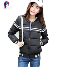 2016 New Autumn Winter Jacket Women Slim Coat Female Short Cotton Baseball Uniform Jackets Students