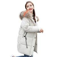 Большие размеры, зимняя куртка для женщин, Повседневная Свободная парка с хлопковой подкладкой mujer 2018, длинная куртка с капюшоном casaco feminino, Ж...